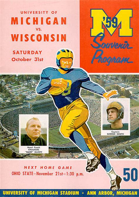 Art of Football, 1950-1959 University of Michigan Athletics