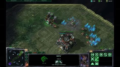 Starcraft 2 Terran Vs Zerg Rush Strategy Part 1 - YouTube